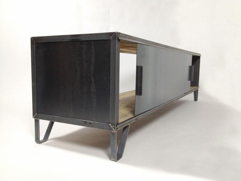 Kast Hout Staal : Tv meubel hoog laag firma hout staal tv kast hoog yamai